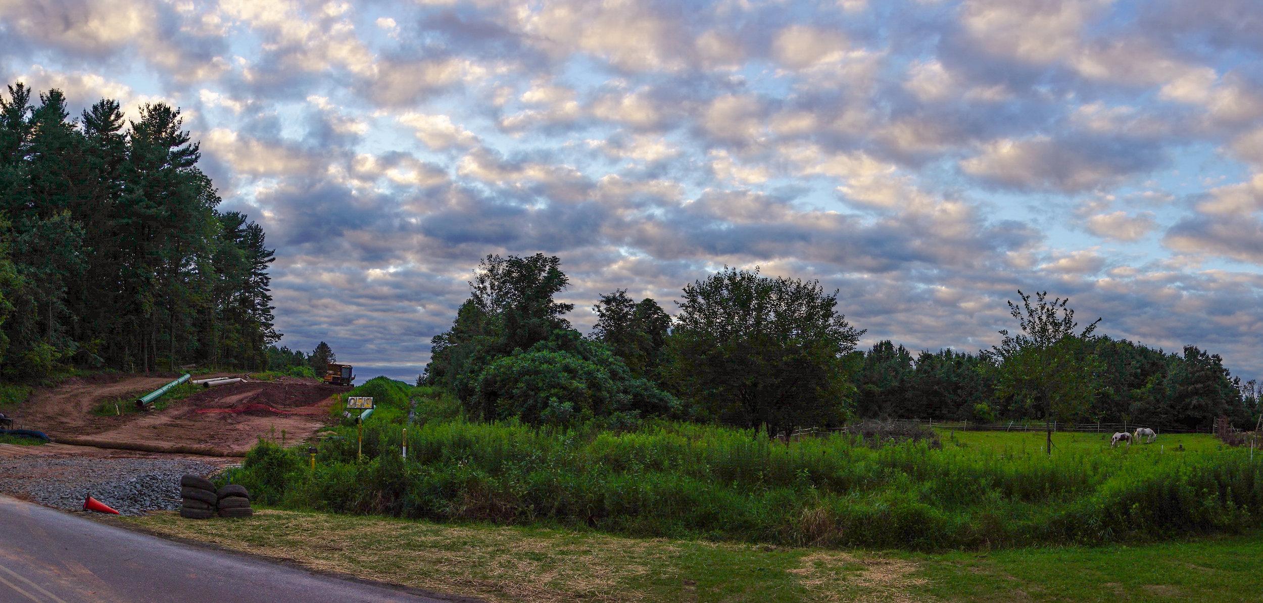 1314 - pipeline - pasture sunset 2
