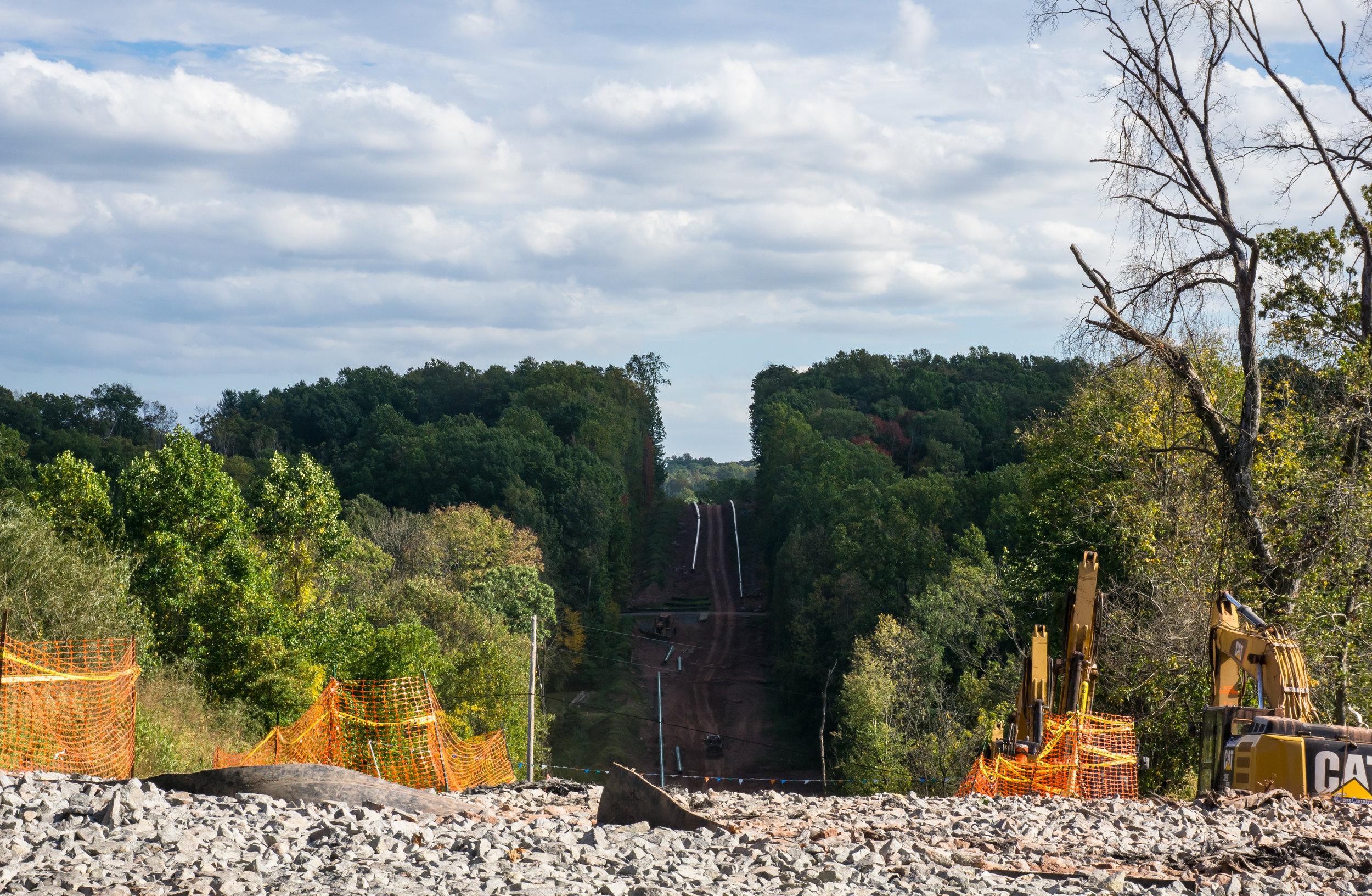 1369 - Pipeline - Cut through the hills Autumn