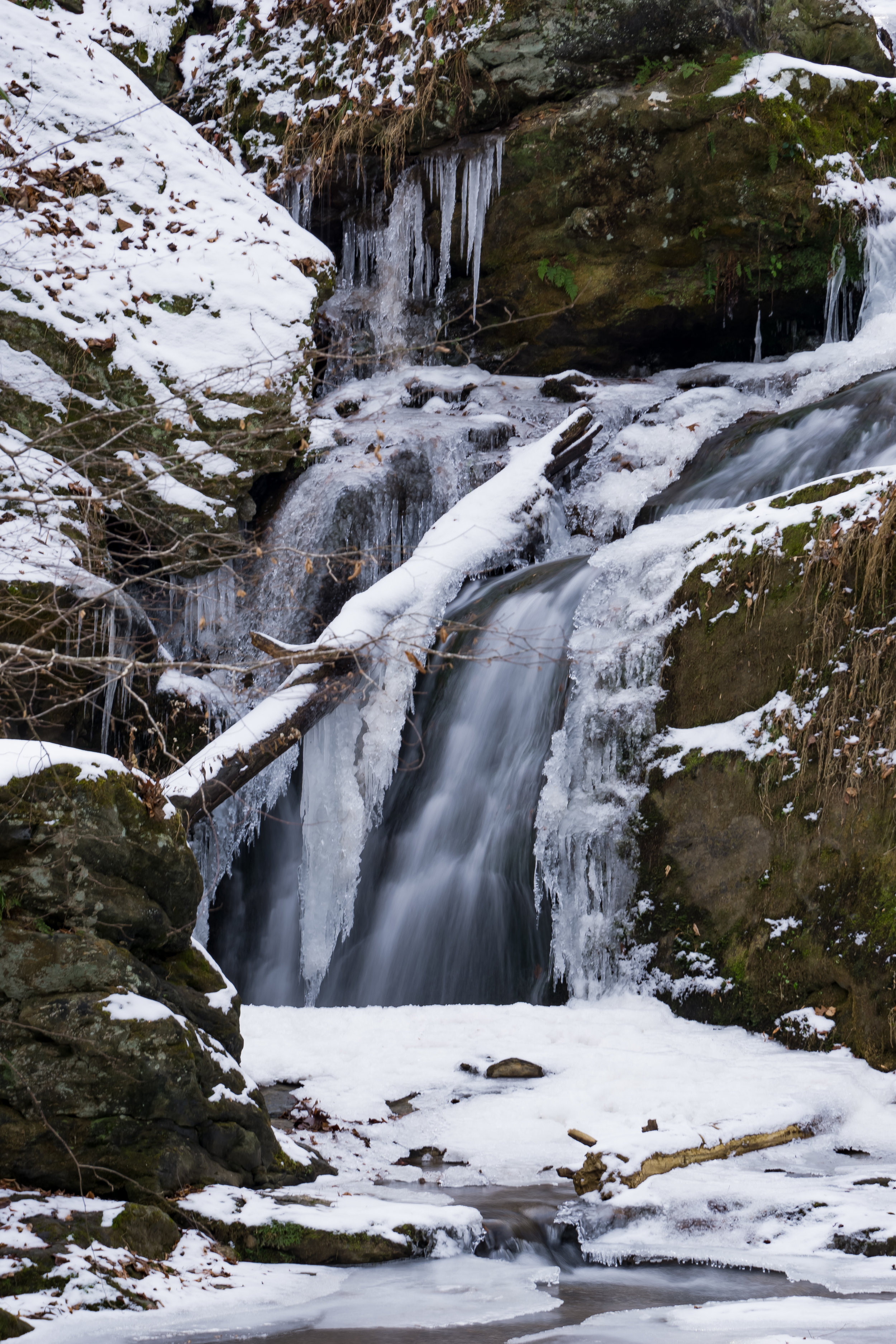 Frozen Mill Creek Falls