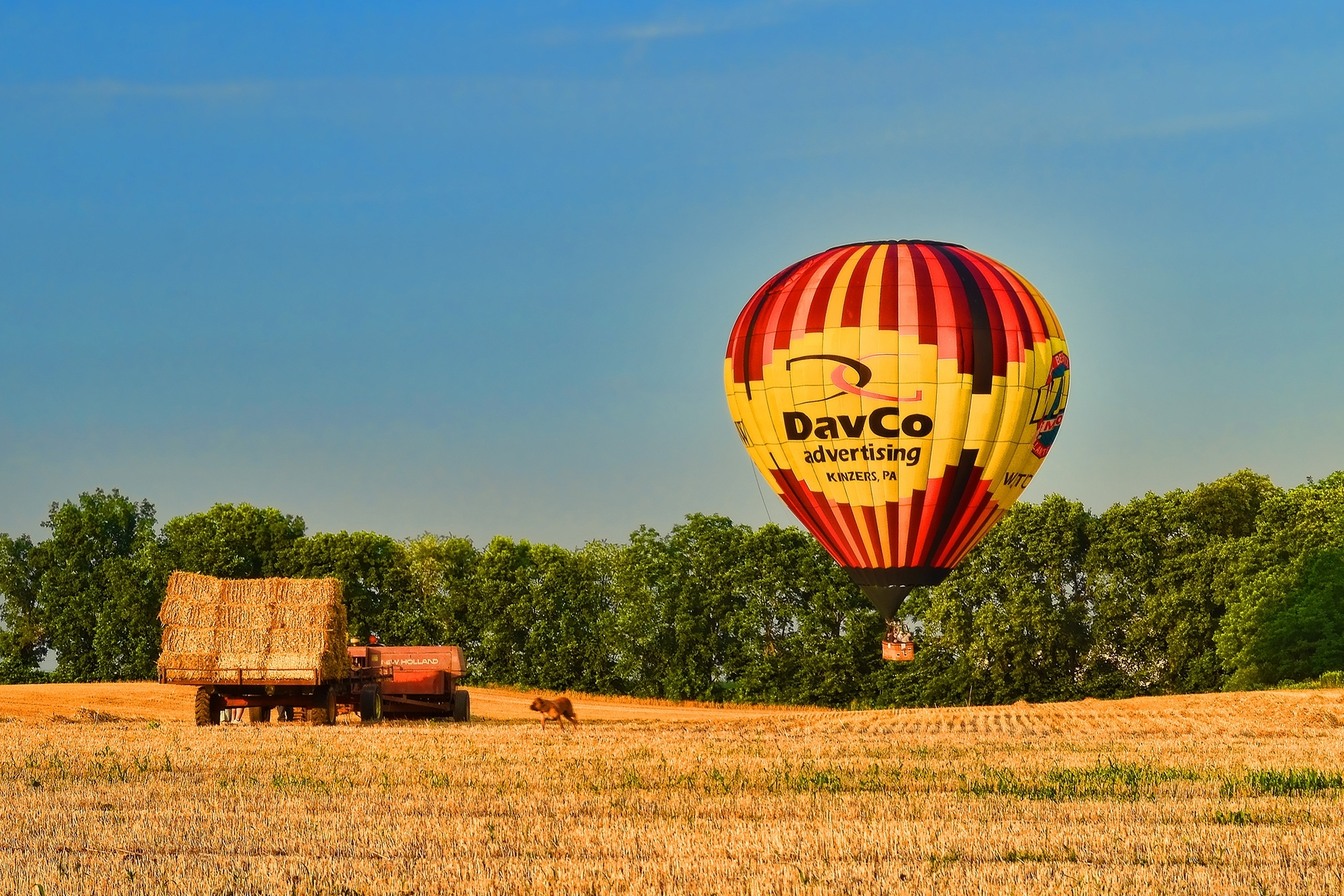 DavCo Balloon in a Hay Field