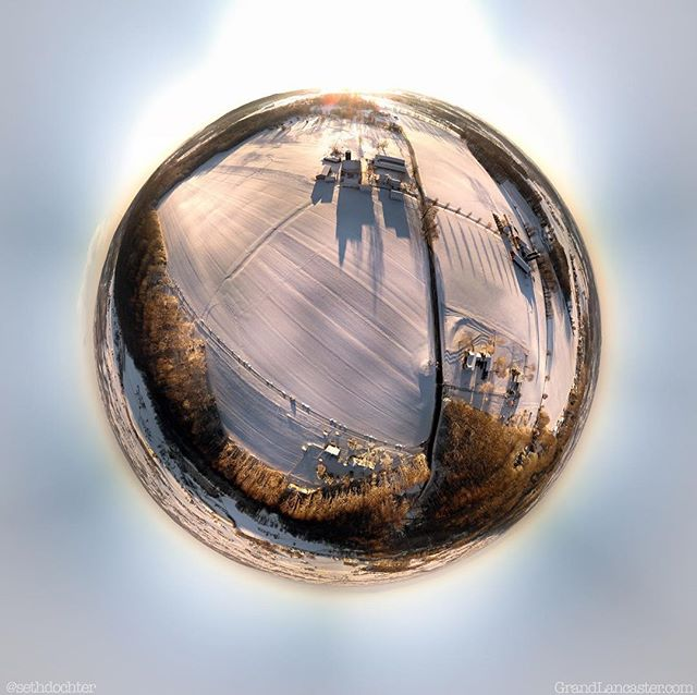 Editing these frozen tiny planets from last week for fun. I eventually realized this was my adult equivalent to Saturday morning cartoons 😂 #tinyplanet #drone #frozen #snow #grandlancaster #lancastergram #discoverlancaster #alwayslancaster #pennlive #uncoveringpa #iglanc #countryside #country_features #rsa_rural #amishcountry #wanderlust #upintheair #dji #djiglobal #djimavicair