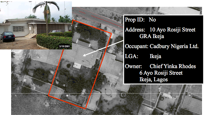 Sample property enumeration dataset for a typical property in Lagos