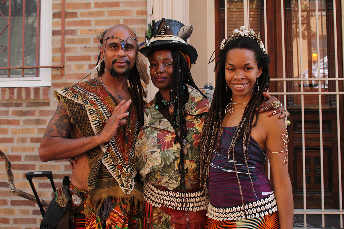 Maxim vs Prophet, Rain Water and Janee rock earth tones at the Odunde Festival on South Street in Philadelphia, Pa. on