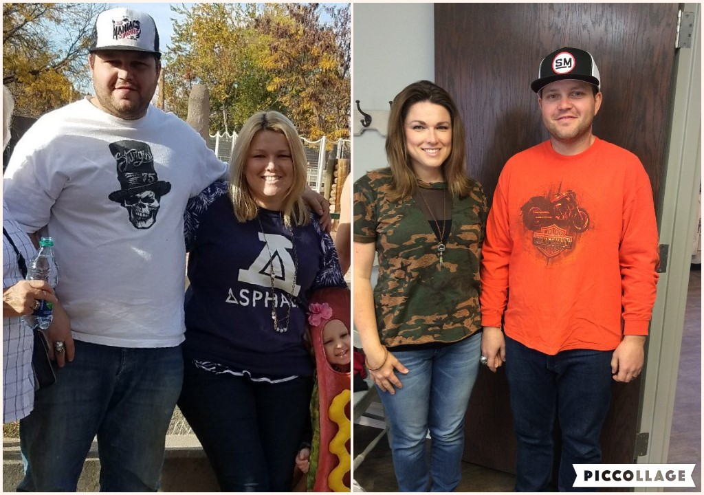 This INCREDIBLE before and after photo showcases our actual husband and wife clients, Scott and Tanoi, who, together, lost 102 pounds and 53 inches from our Ideal Protein Weight Loss Program! Want to know the best part? They KEPT it off!