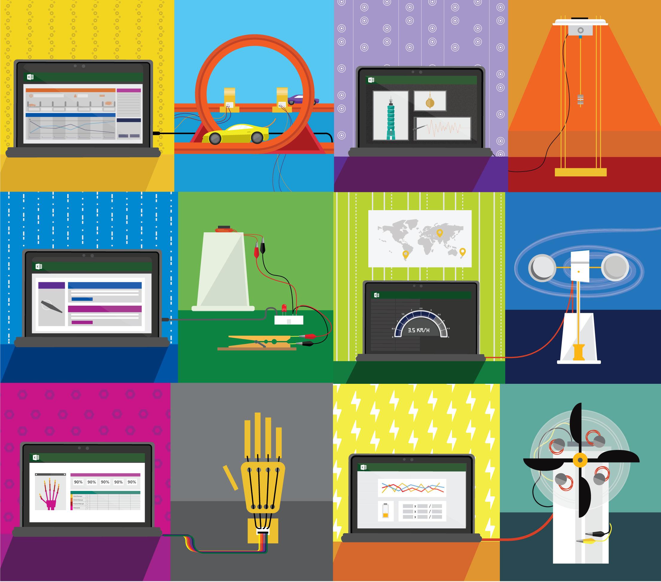 Hacking STEM Project Illustrations