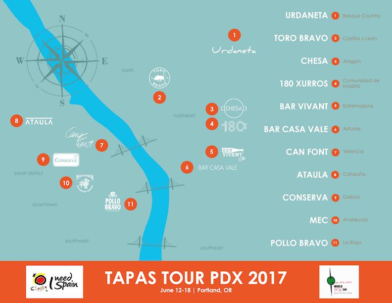 TAPAS TOUR PDX 2017