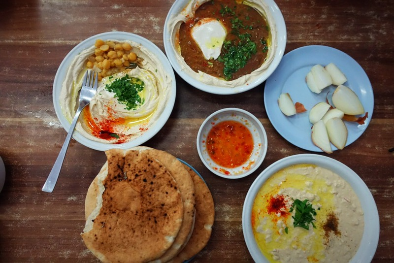 IMG_4085 - We started with the best! All the hummuses they serve at Hummus abu Hassan.JPG