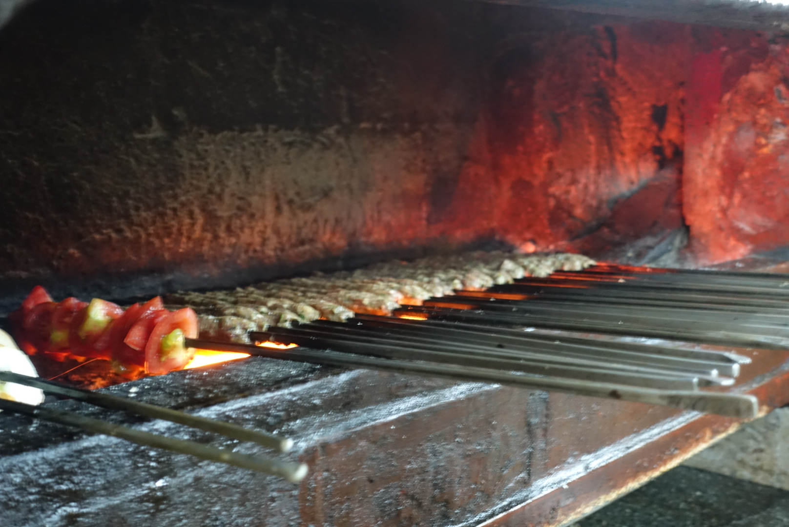 IMG_4092 - Kebabs roasting in Jerusalem. This place has been making the same kebab for over 150 years.JPG
