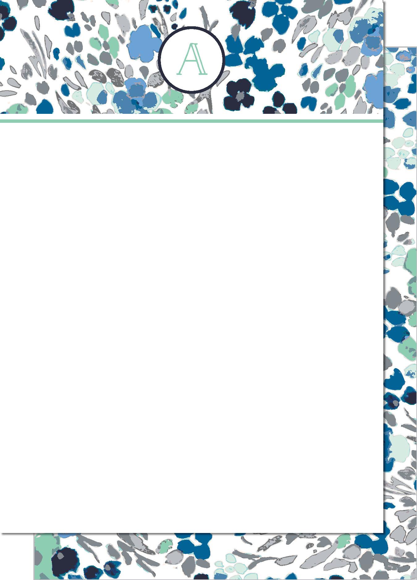 KD7124NC-PB Floral Initial