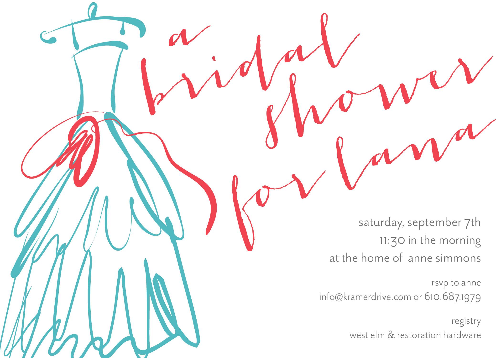 KD2081IN Dress Illustration Shower