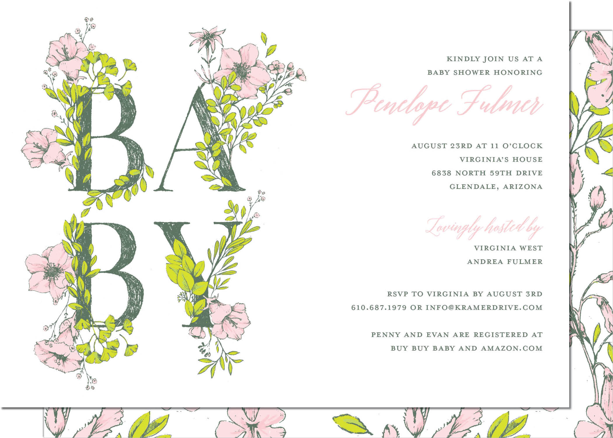 KD4168IN-PB Flowers Baby