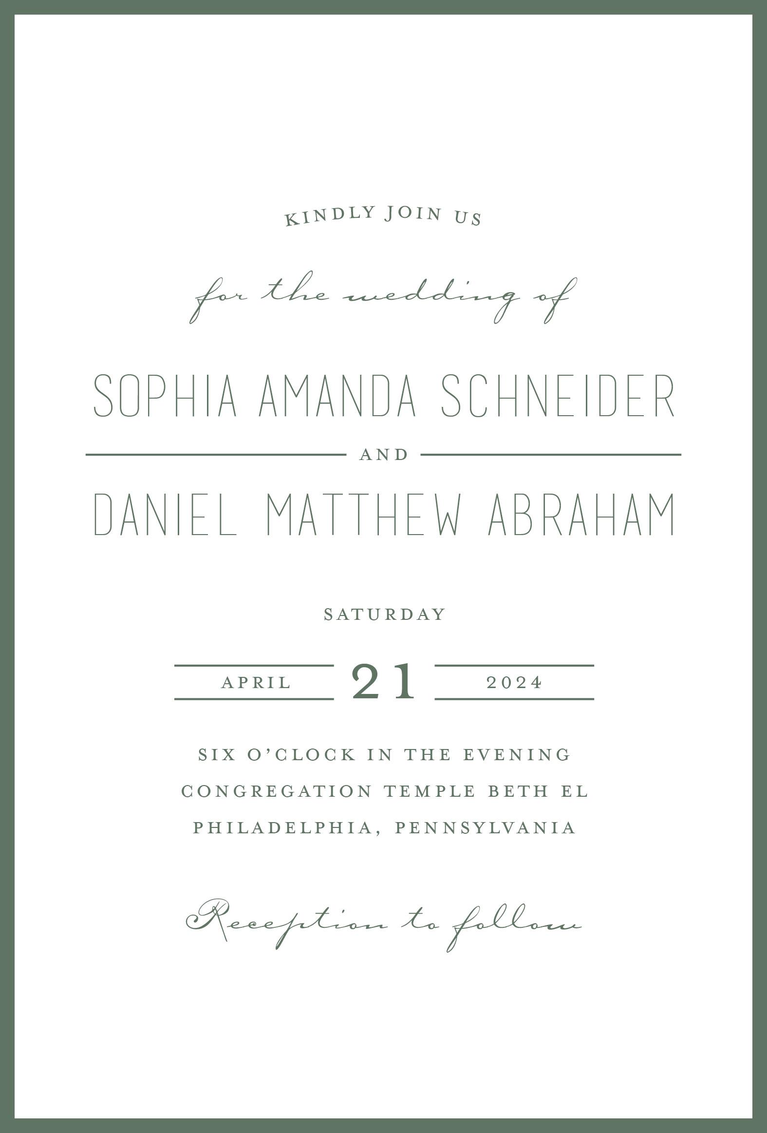 KDSW209LIN Sophia and Daniel