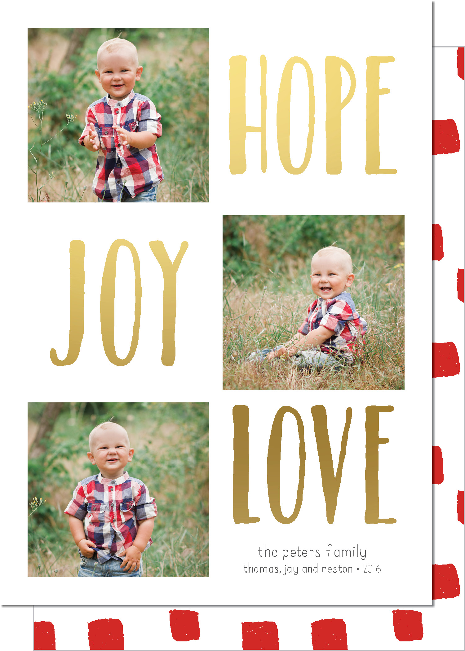 KD5236IN-PB-FOIL Hope Joy Love