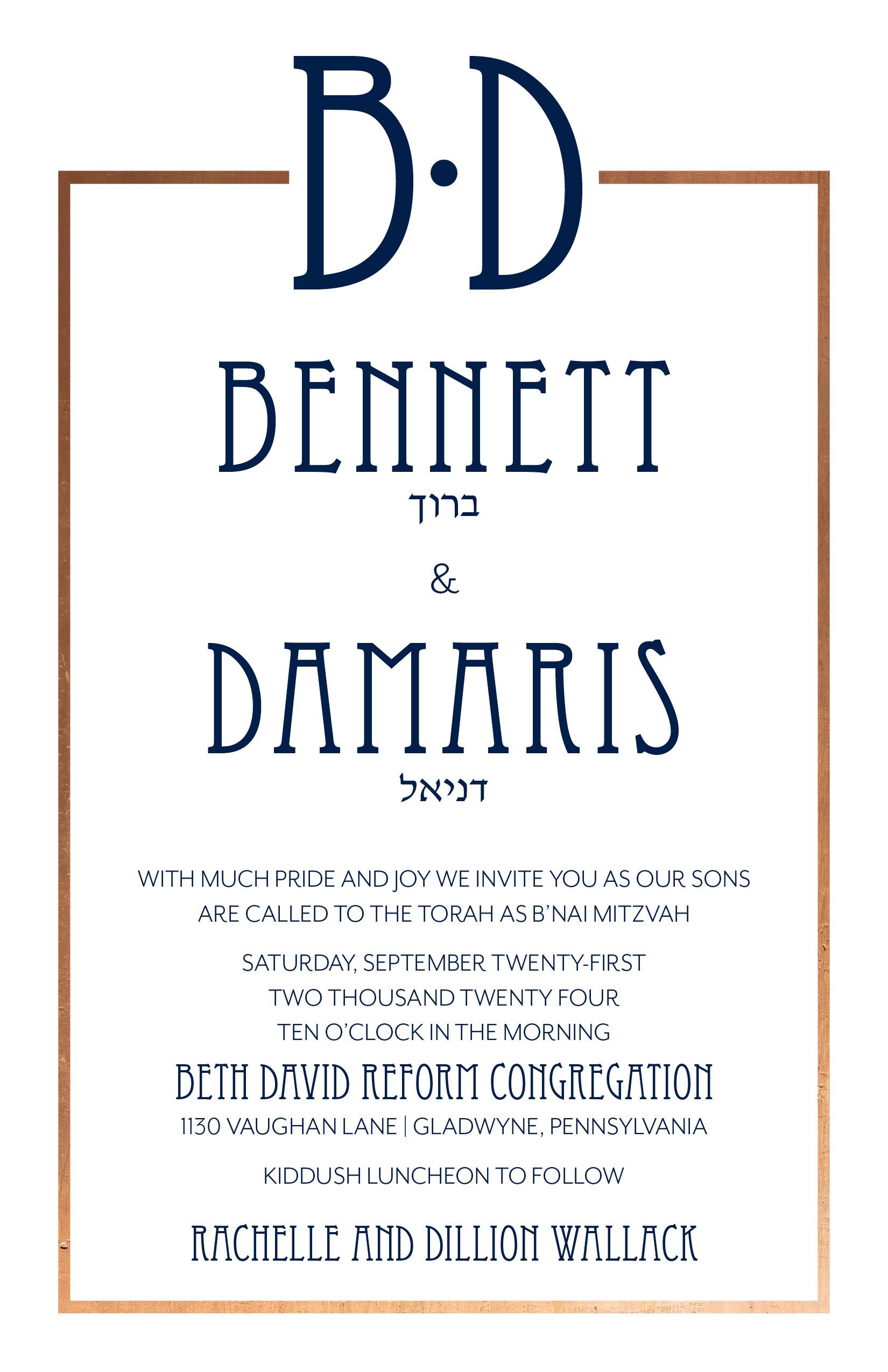 KDSM8219LIN-FOIL Bennet & Damaris