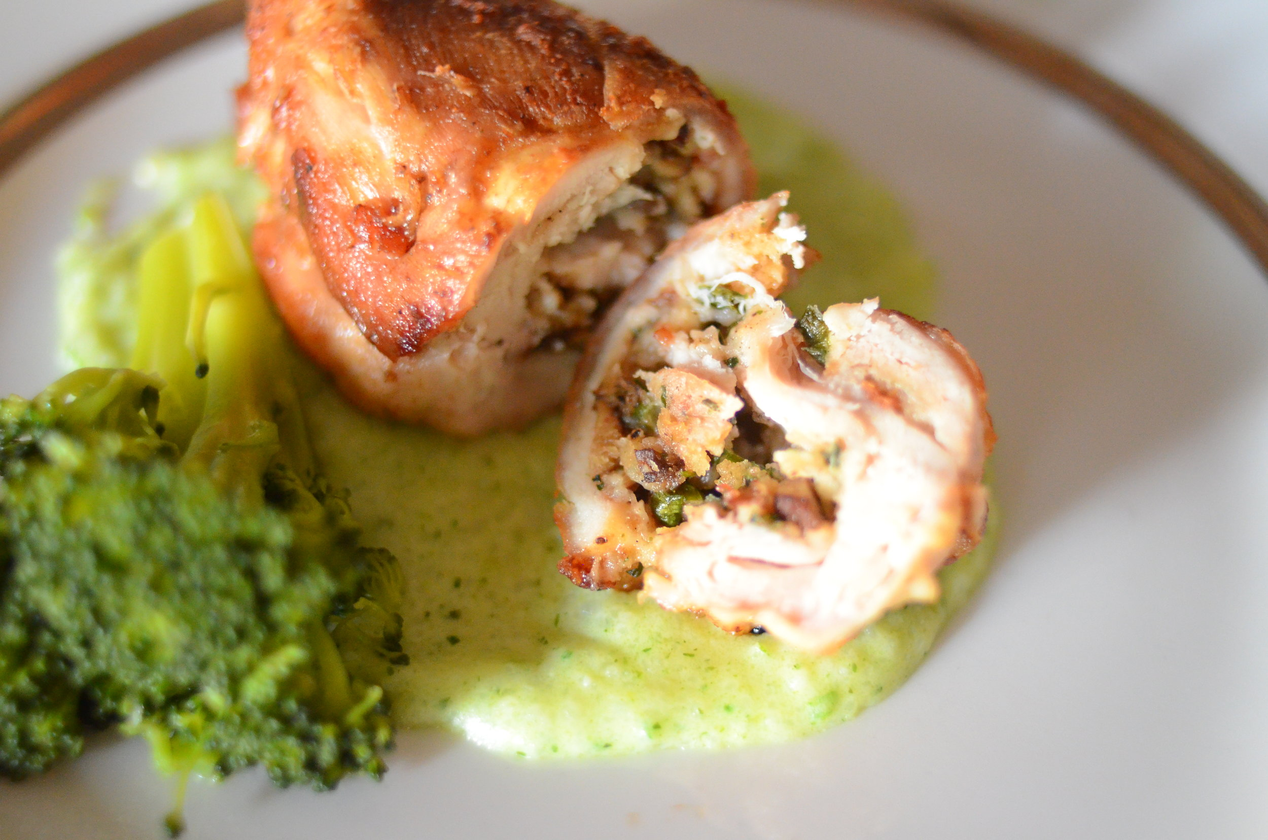 Chicken Roulade with Ricechamel