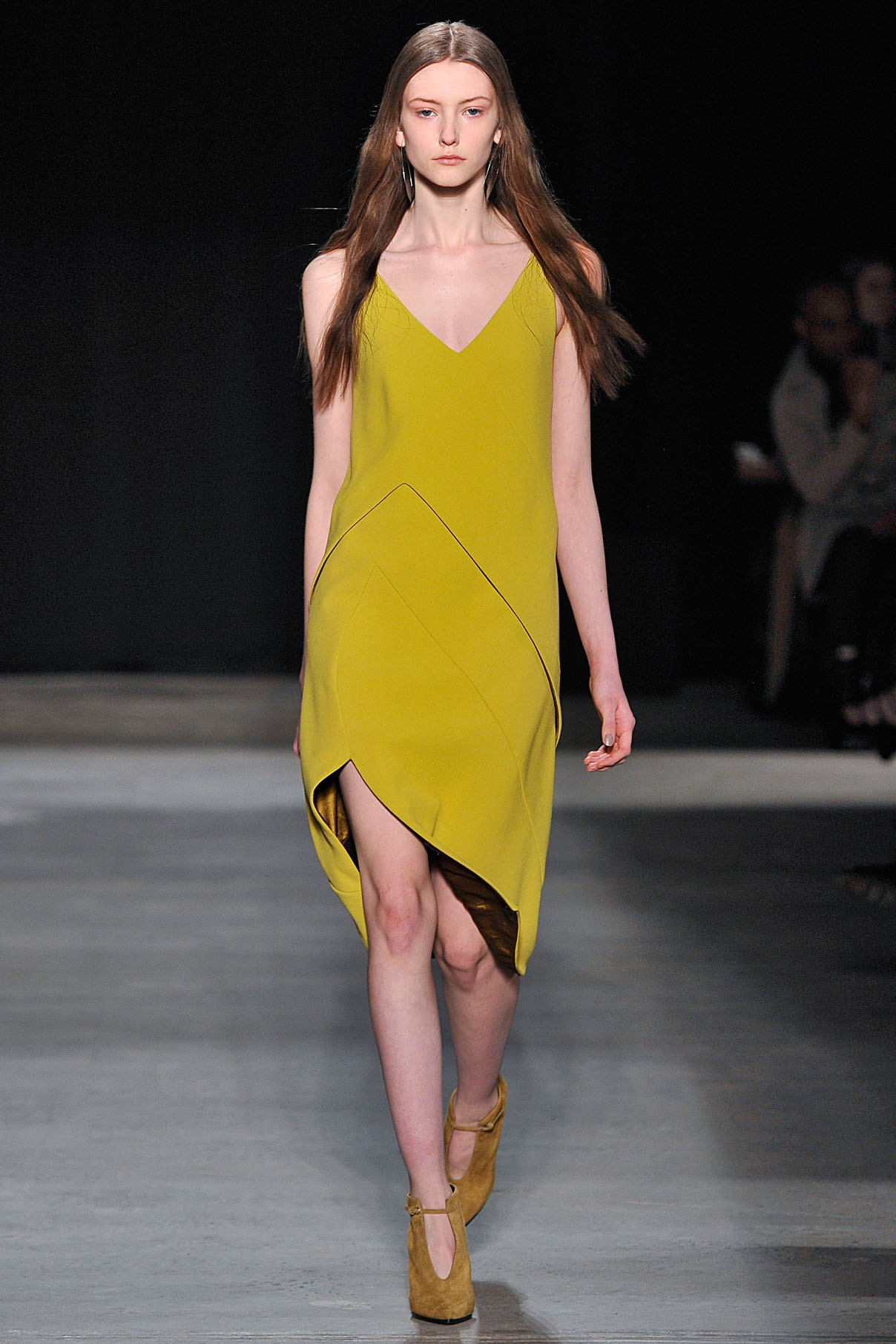 Look 11 Sulphur double wool crepe dress.