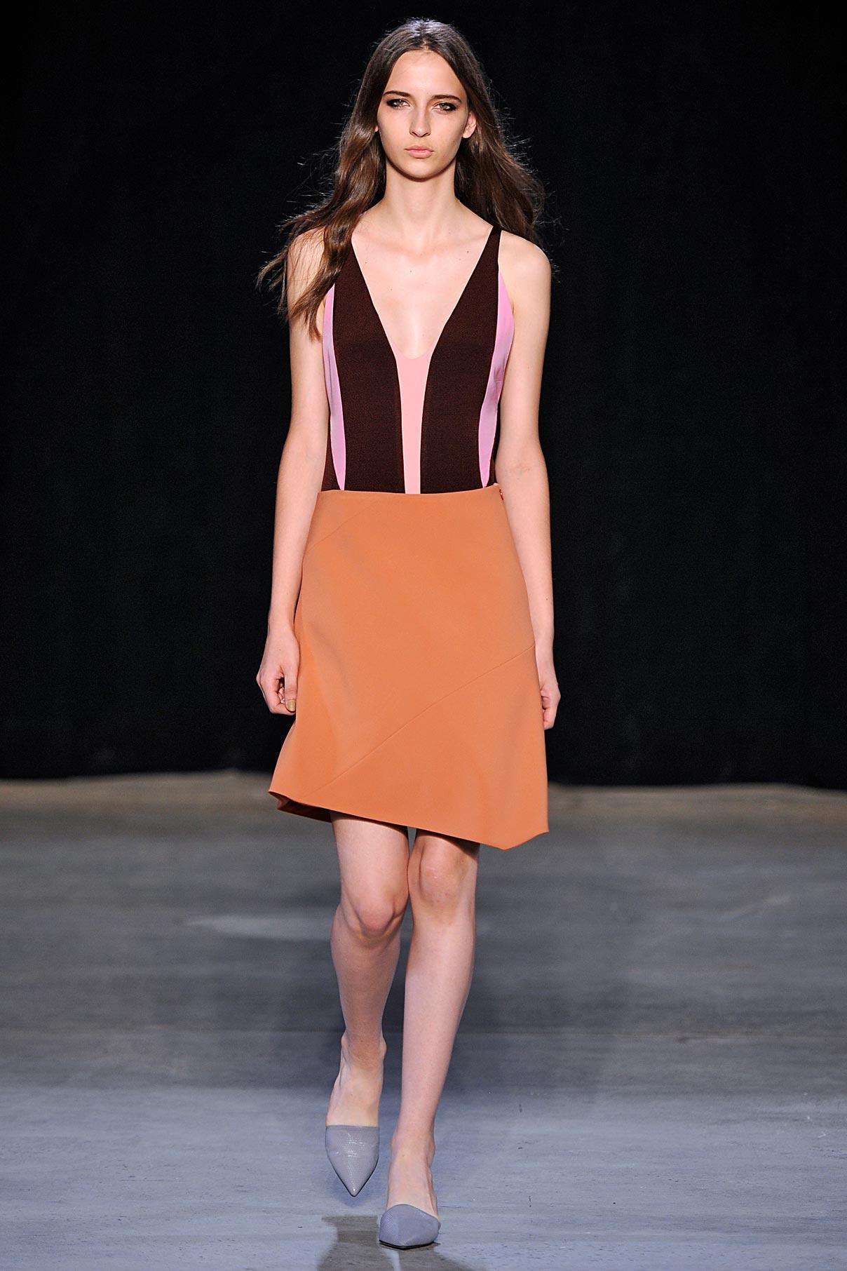 Lool 4 Claret/pink/fuchsia/clay tank dress.