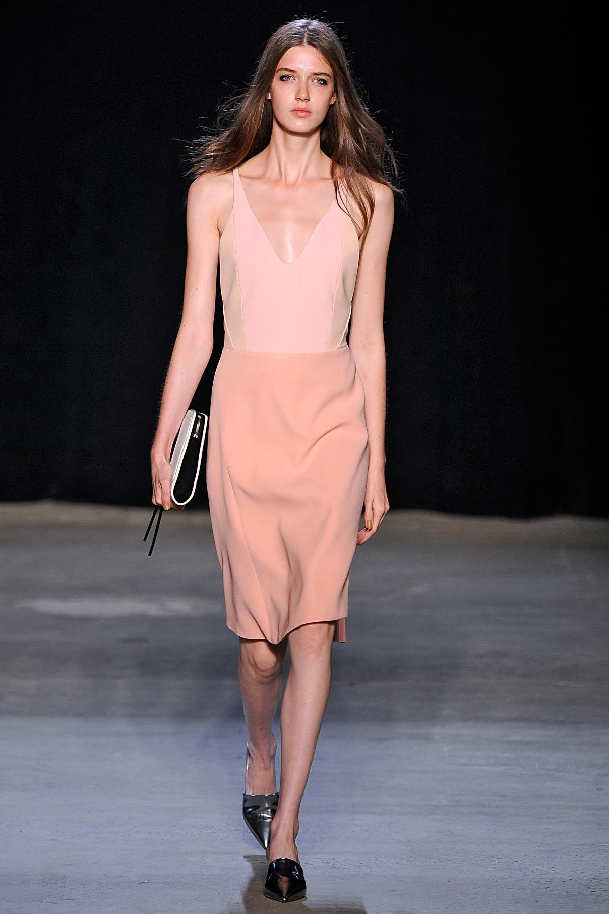 Look 5 Blush/pink/nude tank dress.