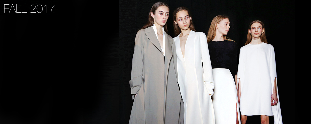 Narciso Rodriguez Fall 2017 collection.