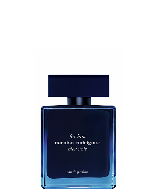 for him bleu noir eau de parfum  for him bleu noir eau de parfum celebrates pure masculine sensuality in an olfactory composition that's discreet yet potent. The signature musc is heightened by sensual  woody notes—blue cedar and black ebony—and further transformed with vetiver. The bottle is an artful reinterpretation of the original bleu noir bottle in a dégradé translucence. bleu noir eau de parfum personifies the mercurial nature of seduction.