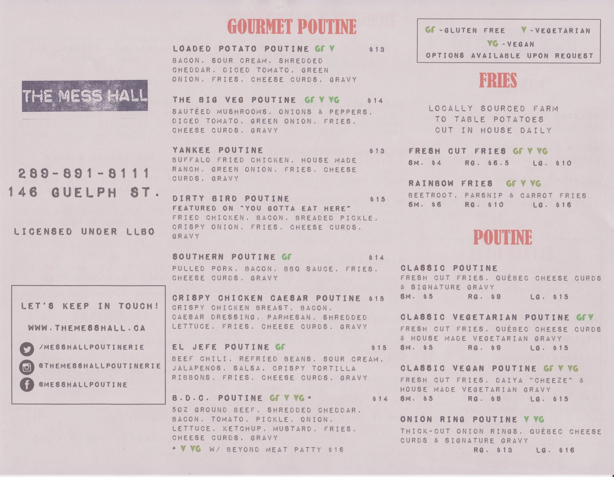 The Mess Hall Poutiner Menu Side 1 - 2019 .jpg