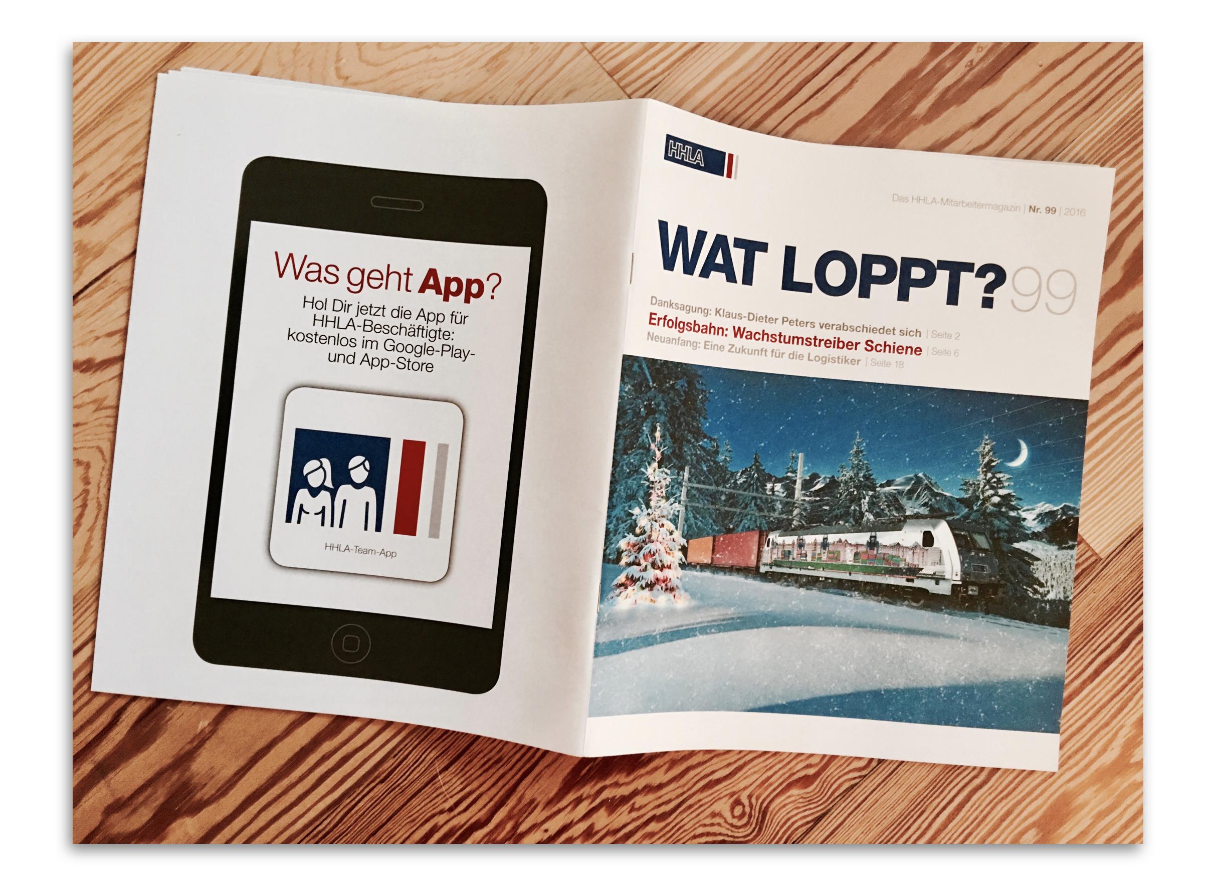 Die HHLA BOWL - beworben im HHLA Magazin  WAT LOPPT?