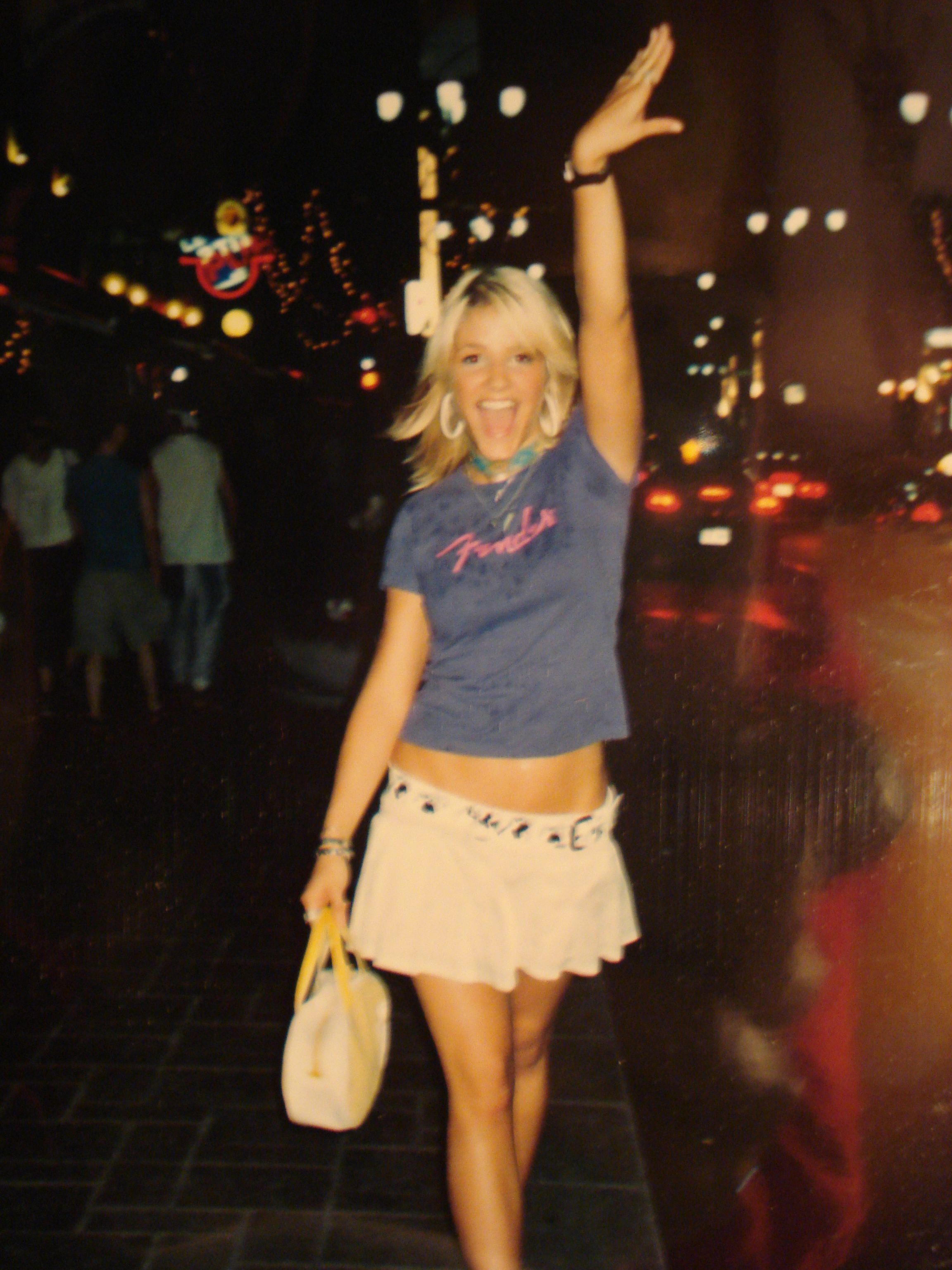 I swear this is not a halloween costume. This Miss Sixty purse and Volcom belt were my favorite accessories.