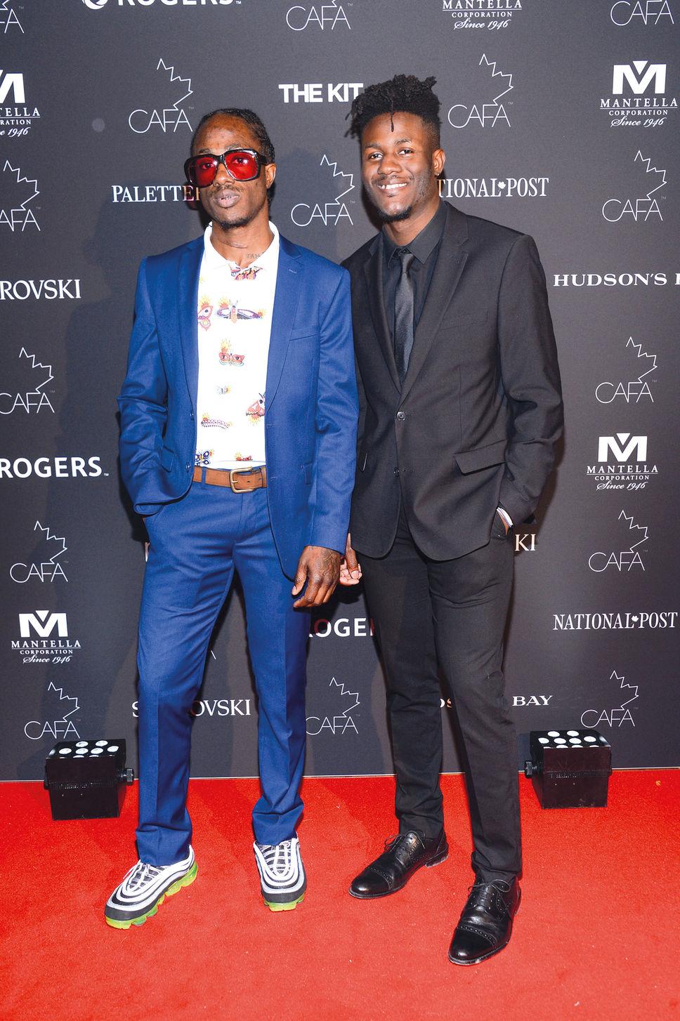 Les frères Awuye de Atelier New Regime, Tapis rouge CAFA 2018, Crédit Photo:  Journal de Montréal