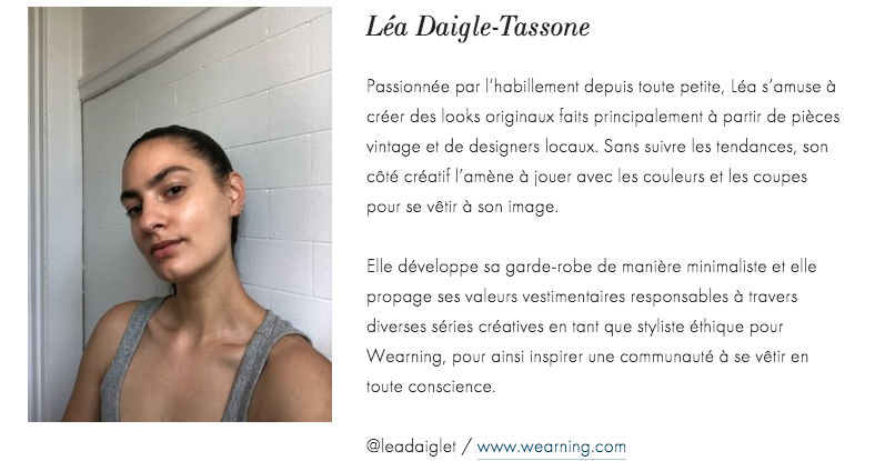 lea daigle tassone, montreal styliste, ethical fashion, mode durable, styliste mode durable, beauties lab, beauties and co, montreal