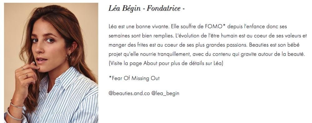 léa bégin, beauties lab, beauties and co, best facial in montreal, meilleur facial a montreal