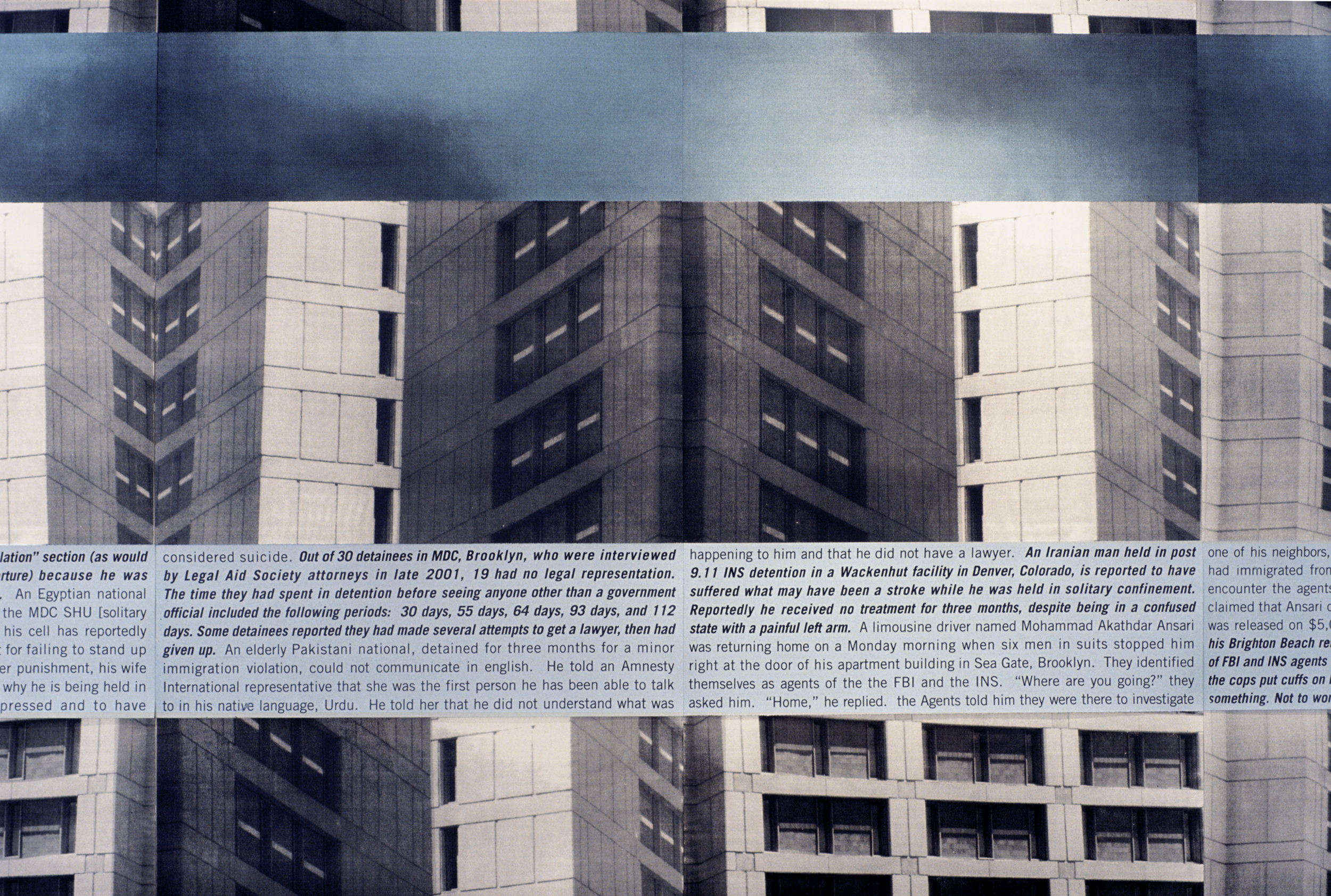 Metropolitan Detention Center, detail