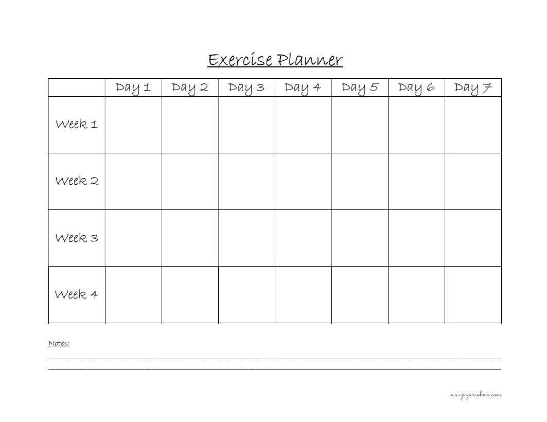 Exercise Planner