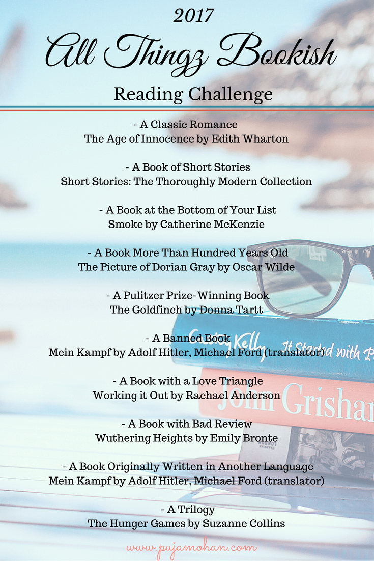 My All Thingz Bookish Reading Challenge - 2017
