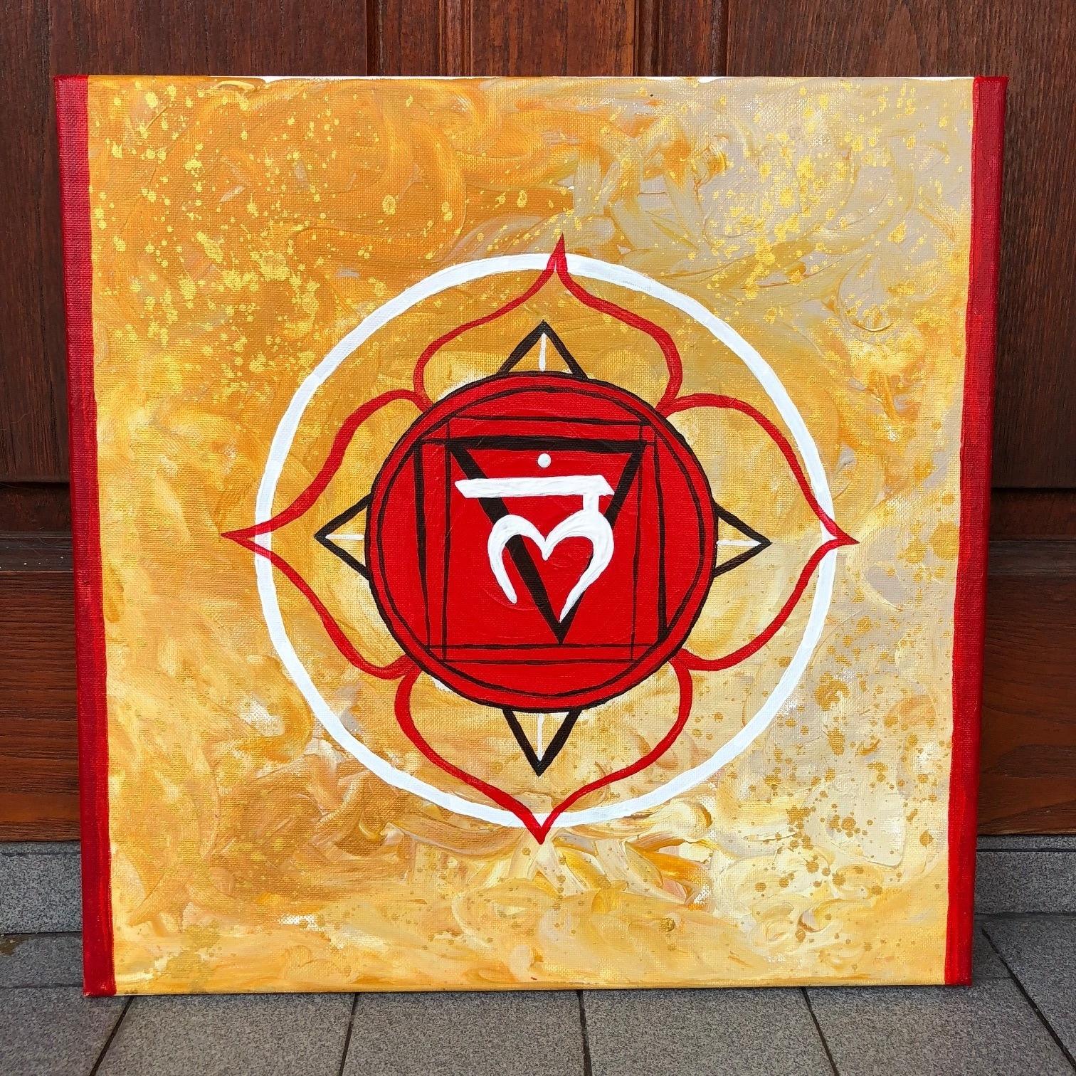 The Root Chakra , 2018  Acrylic on Canvas 40cm x 40cm THB 3,900