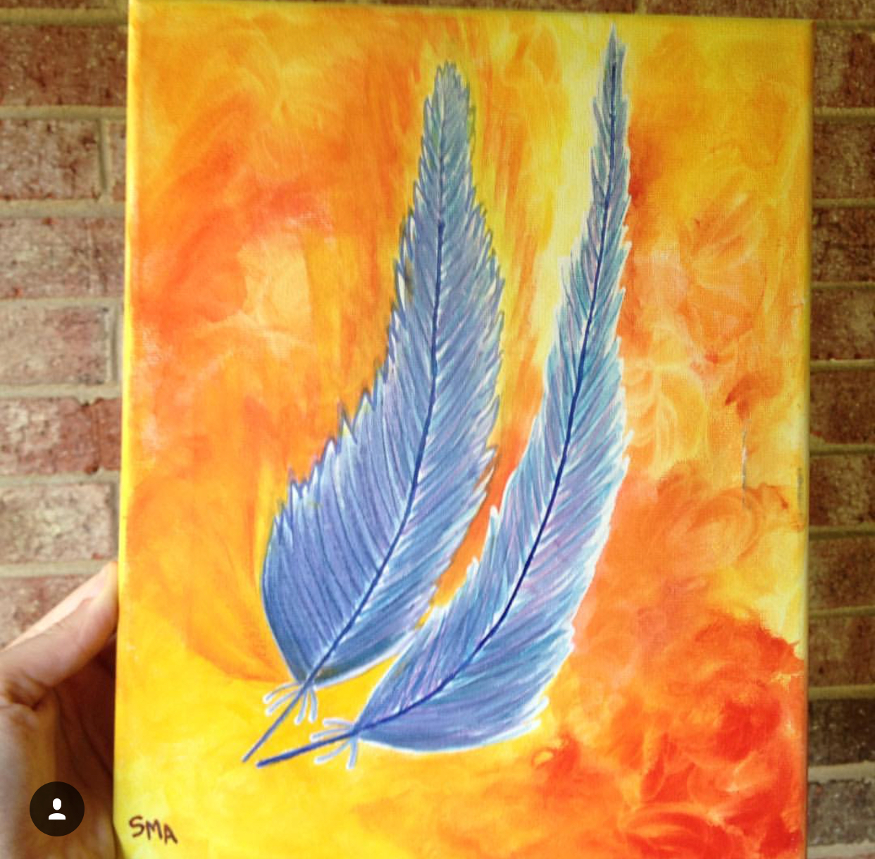 Phoenix Feathers , 2017  Watercolor on Canvas 30cm x 40cm THB 2,900 - SOLD