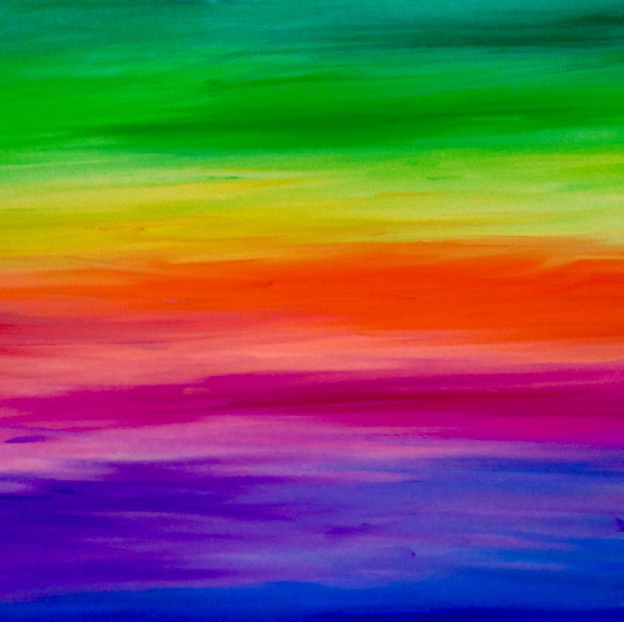 Hand Painted Rainbows , 2016  Oil on Canvas 80cm x 100cm THB 19,200 - SOLD