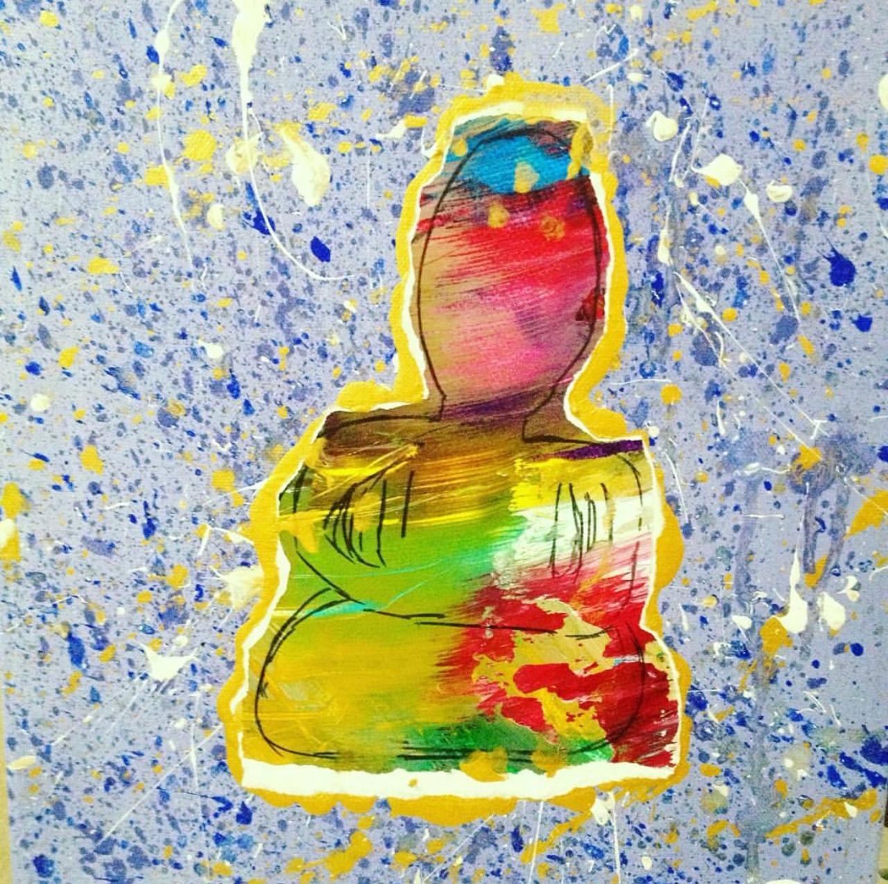 Meditation on Purple , 2016  Mixed Media on Canvas 40cm x 60cm THB 5,800 - SOLD