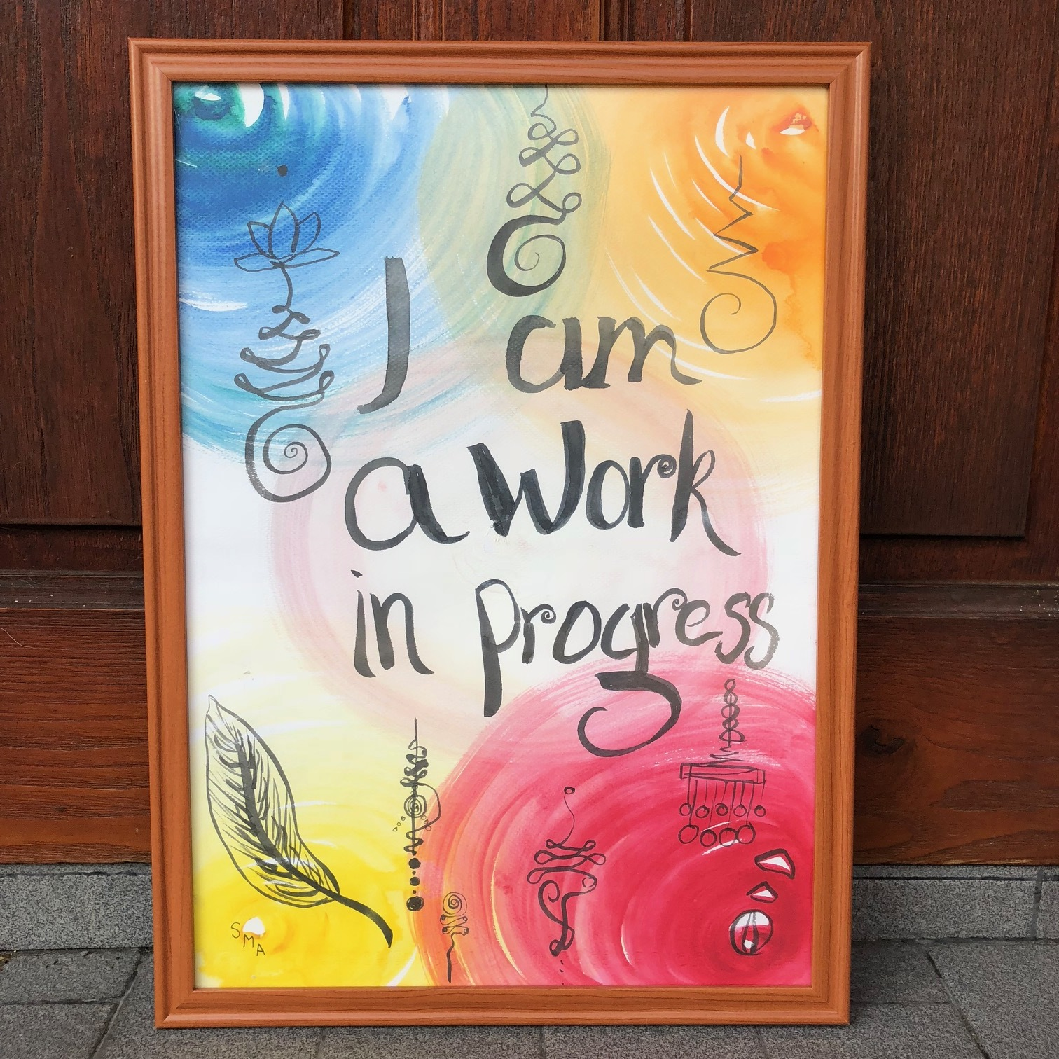 I am a work in progress , 2015  Watercolor on Paper 29.7cm x 42cm ( A3 ) THB 1,800