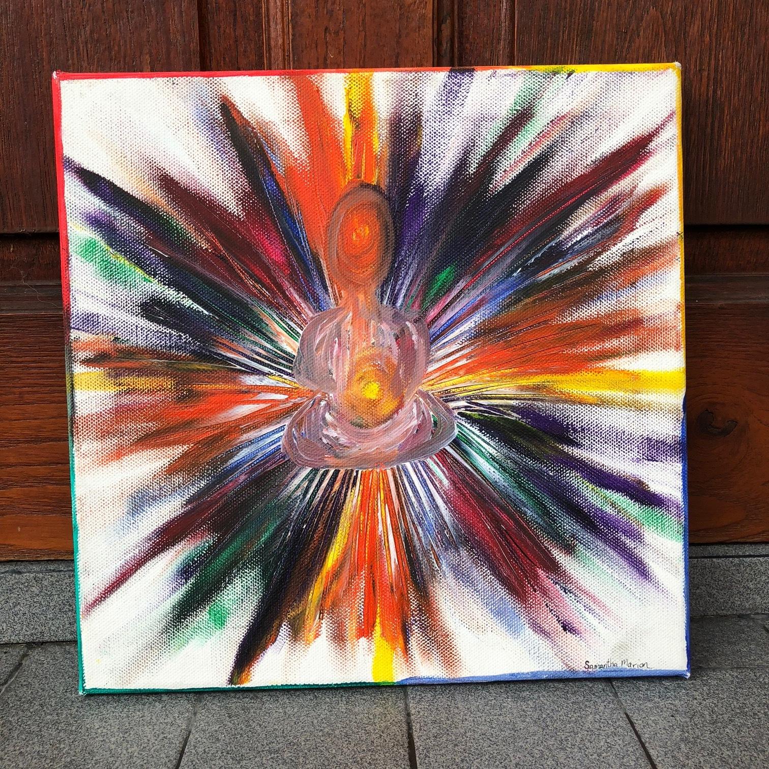 The Light Within , 2016  Acrylic on Canvas 40cm x 40cm THB 3,900