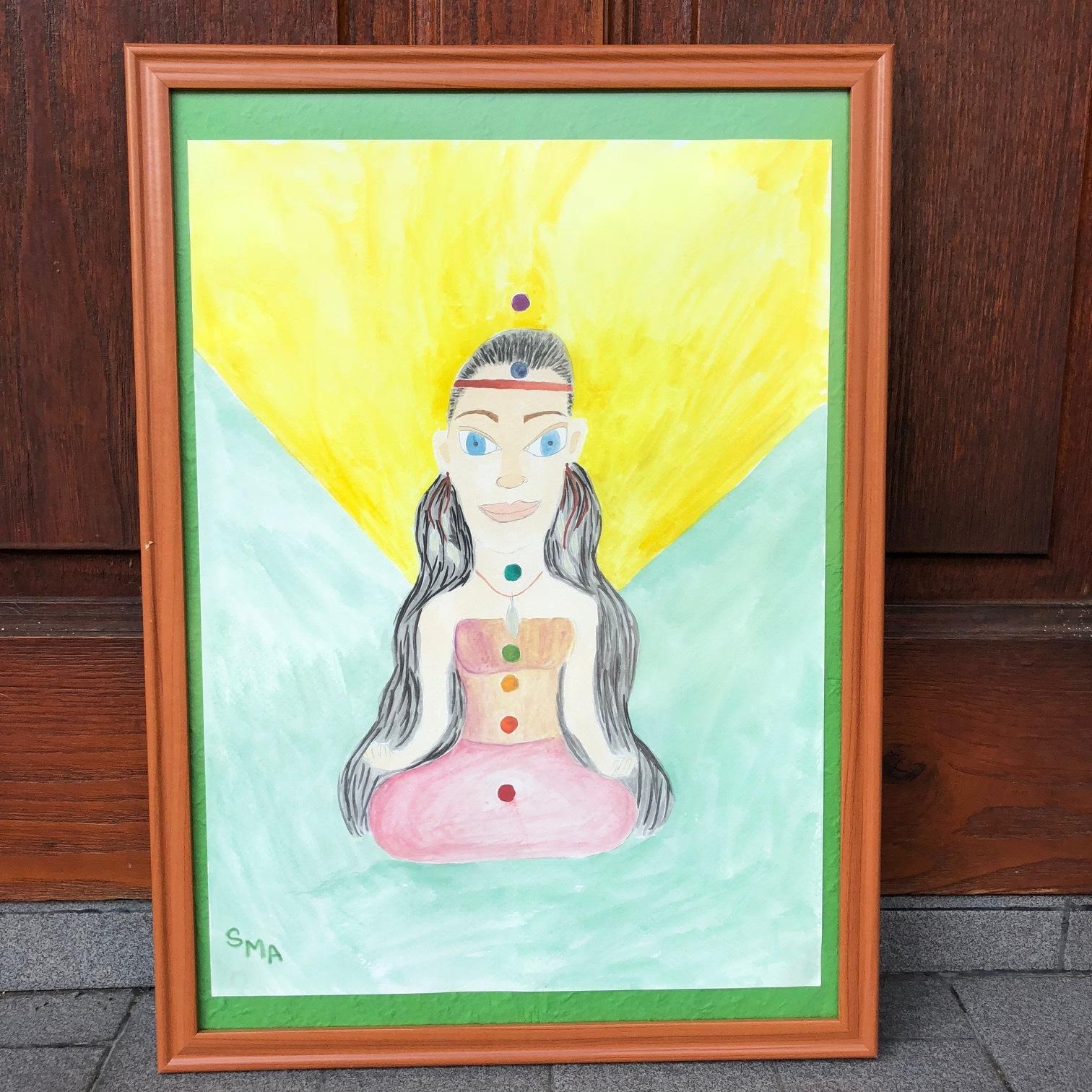 Meditating on Joy , 2018  Watercolor on Paper 27.5cm x 37.5cm THB 1,240 - SOLD