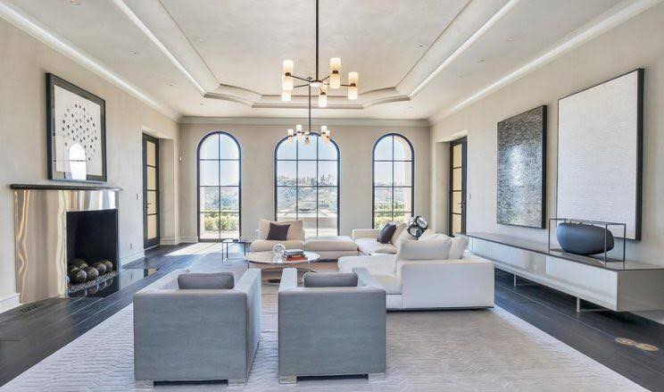 All the walls and ceilings have a beautiful soft glaze to add depth to this large home.