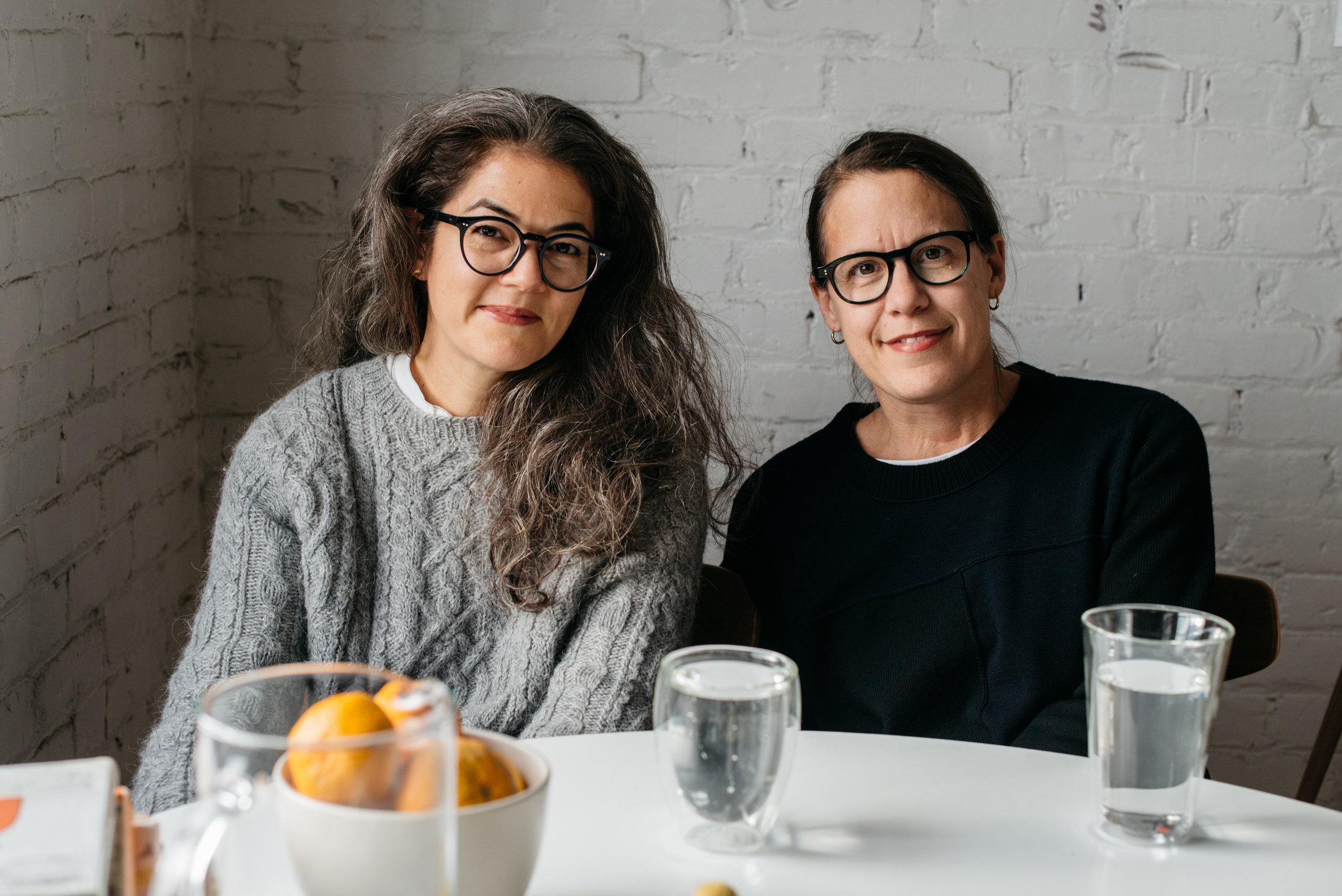 L-R: Kara Yanagawa and Tess Darrow (Founder) of Egg Press