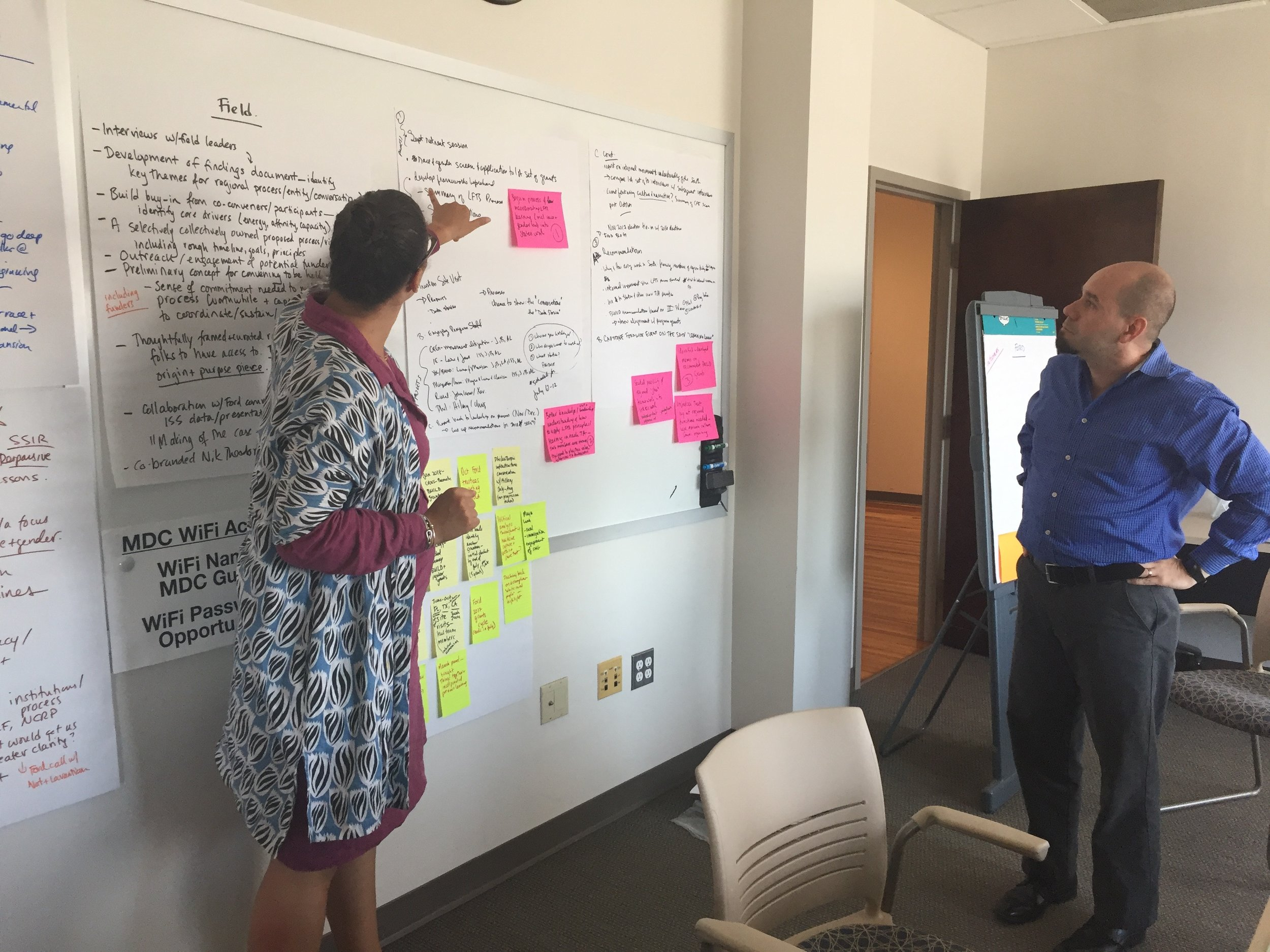 Strategy development with the Ford Foundation's Learning from the South team at the Institute for Southern Studies.
