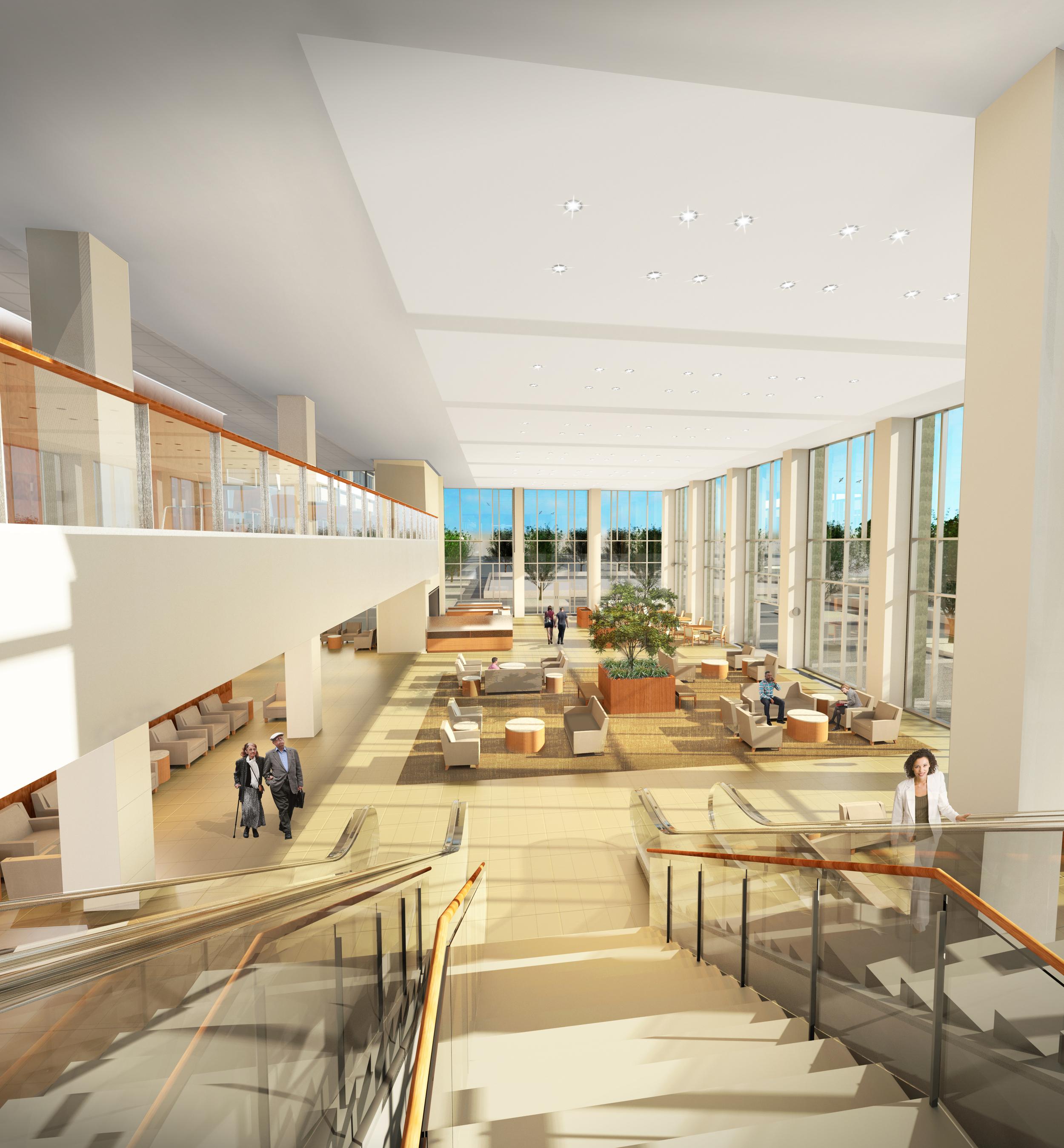 LMC Expansion - Atrium (Stair View)