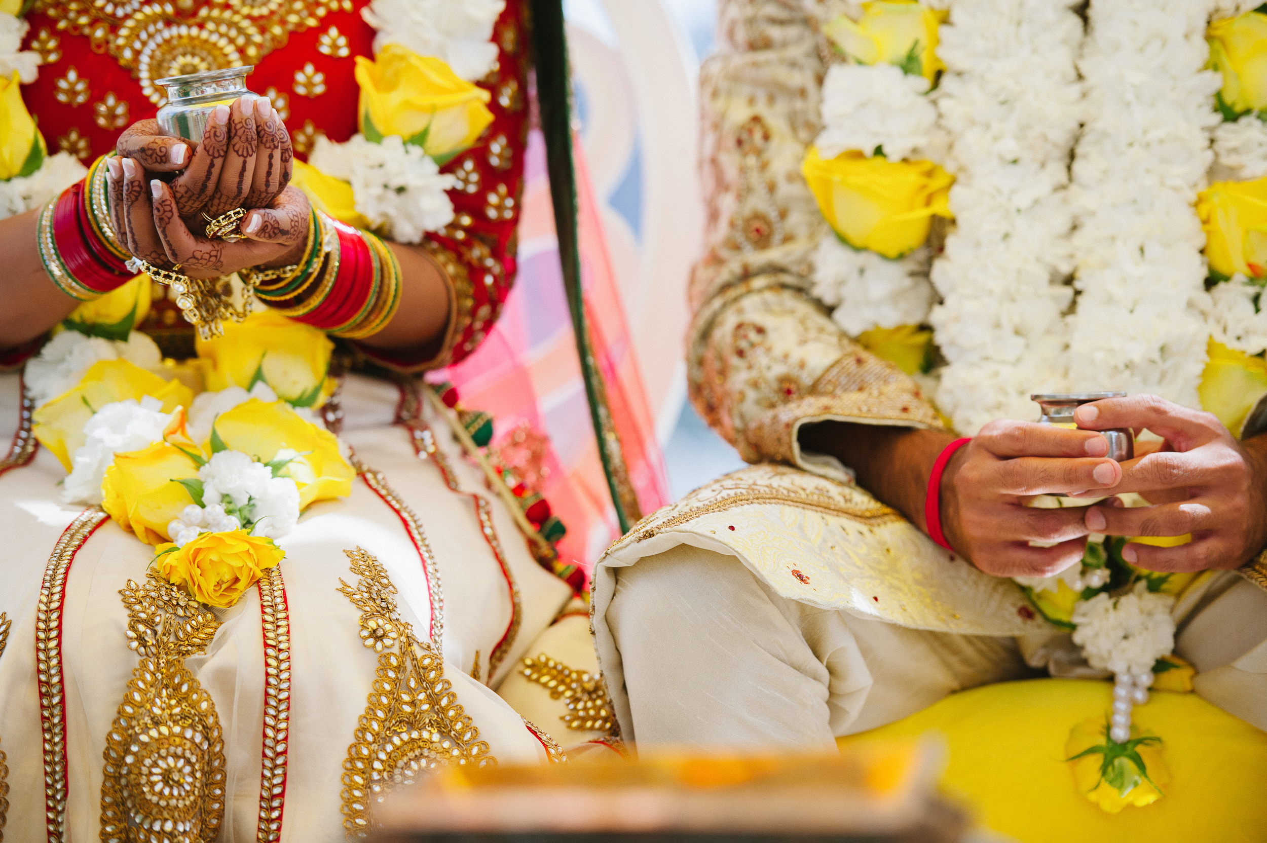 HANDS AT HINDU CEREMONY
