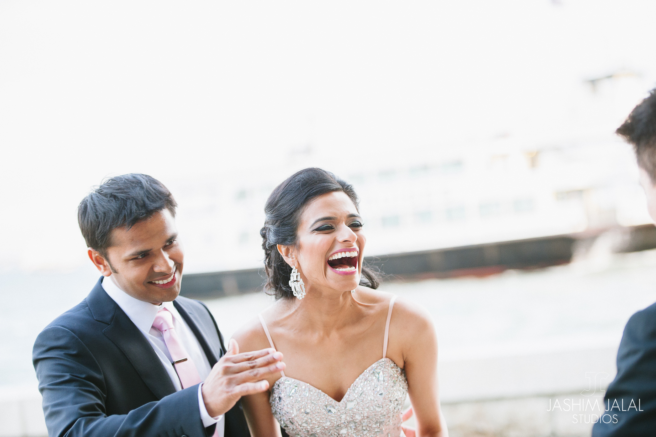 LAUGHING INDIAN COUPLE