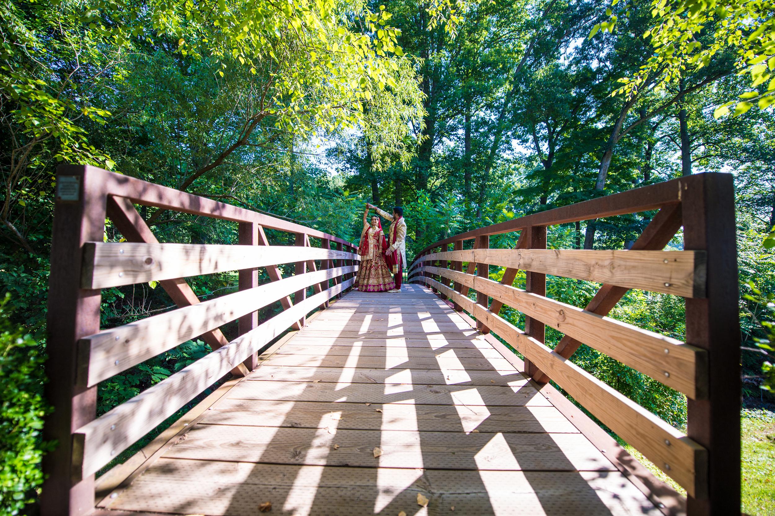 INDIAN COUPLE ON BRIDGE