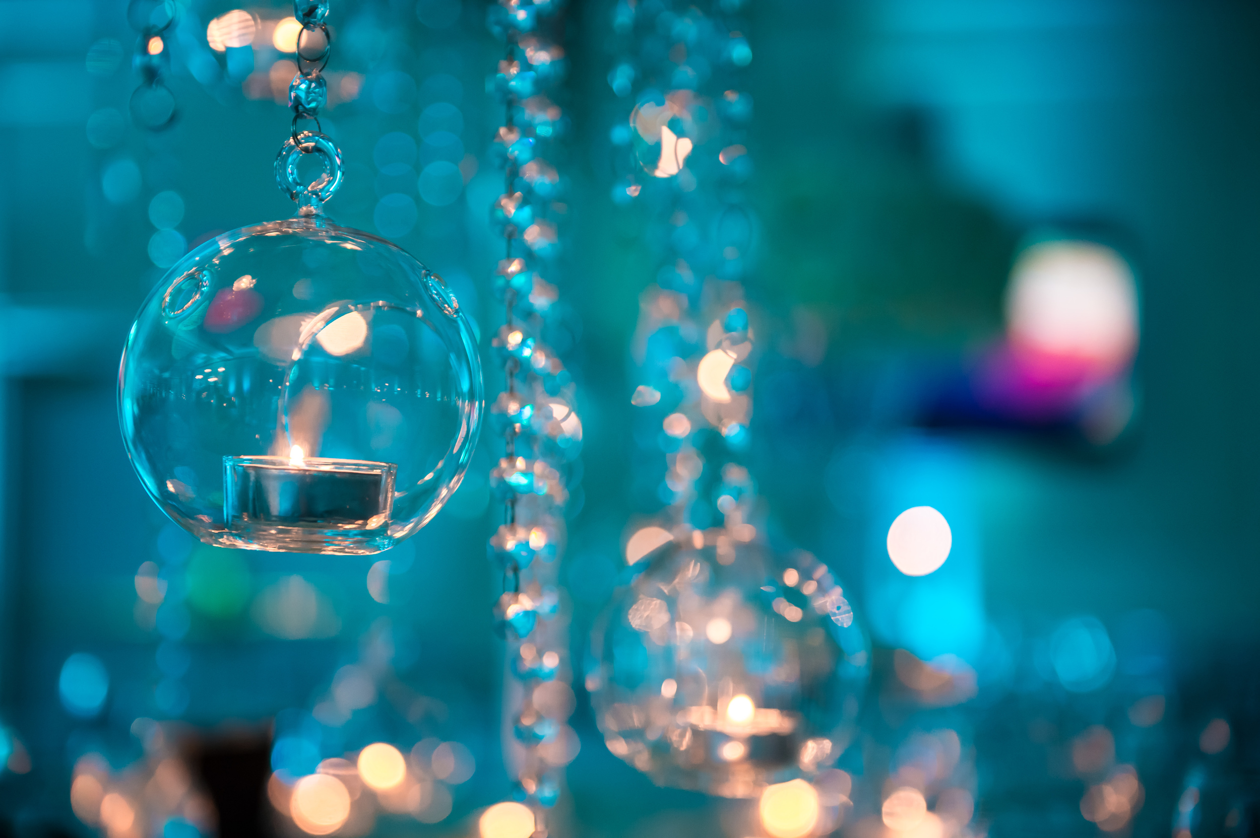 GLASS ORB CENTERPIECES