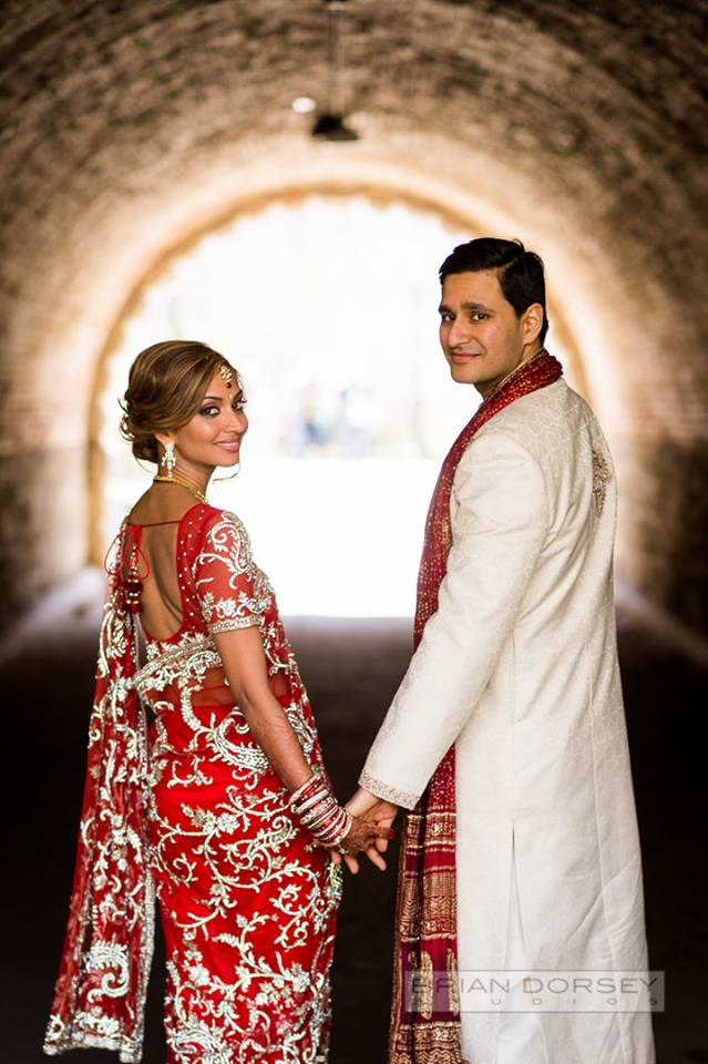 Indian couple in tunnel