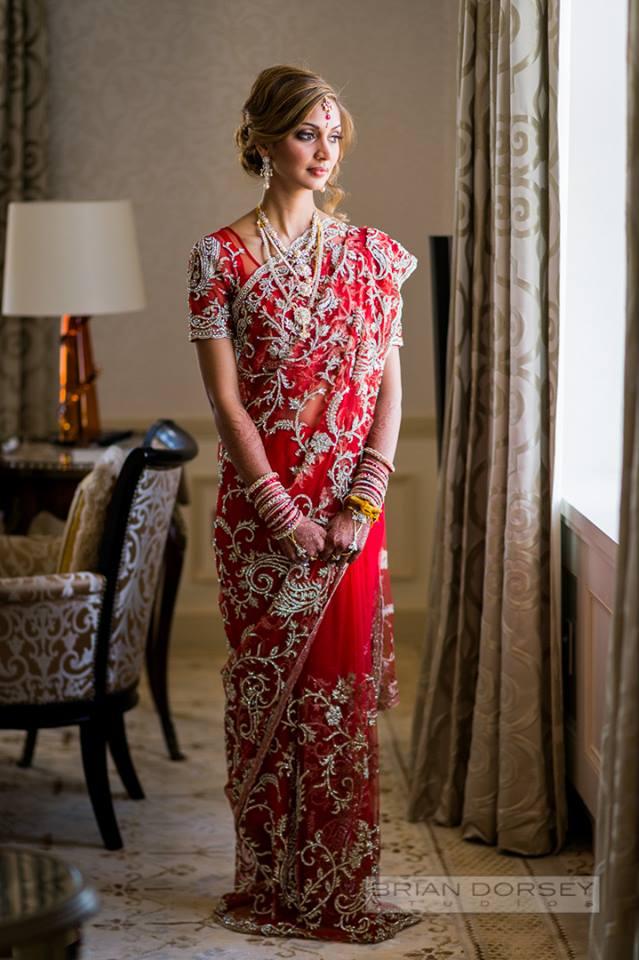 Bride in Saree